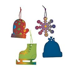 Magic Color Scratch Winter Shapes Christmas Ornaments Craft Kit *** Check out the image by visiting the link.
