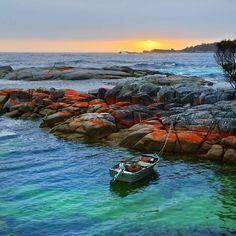 Binalong Bay in Tasmania, Australia