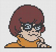 Velma Scooby-Doo perler bead pattern