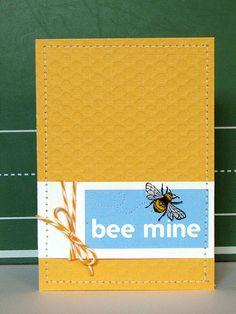 Bee Mine Card by @Jess Liu Witty