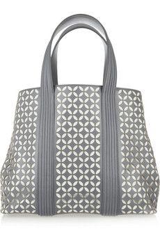 Alaia Perforated petal-design leather tote