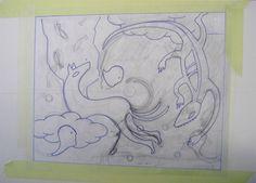 """andrea mattiello """"bozzetto vendone""""    collage su cartone vegetale cm 72x51,5; 2012"""