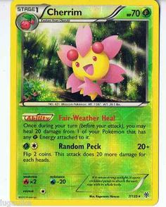 Pokemon Card Plasma Storm Rare Reverse Holo Cherrim 7/135 FREE combined ship