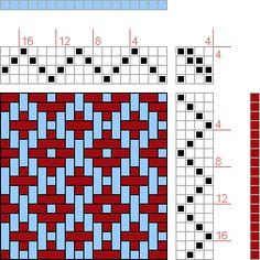 Hand Weaving Draft: Birdseye Diamonds, , 4S, 4T - Handweaving.net Hand Weaving and Draft Archive