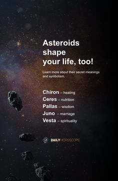 Asteroids in Astrology and Their True Meanings Learn Astrology, Astrology And Horoscopes, Astrology Numerology, Astrology Chart, Astrology Zodiac, Pisces, Spiritual Path, Spiritual Wisdom, Energy Healing Spirituality