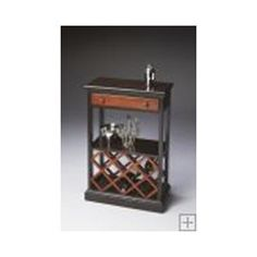 Butler Transitional Cherry Finish Wine Rack 2131109. h1Butler Transitional Cherry Finish Wine Rack 2131109_h1This Butler Transitional Cherry Finish Wine Rack 2131109 features selected solid woods, wood products and choice veneers.� Cherry veneer top, drawer front and shelf... . See More Wine Racks at http://www.ourgreatshop.com/Wine-Racks-C1118.aspx
