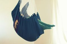 Blue hanging hammock chair with peacock and deer by thistlelittle, $45.00