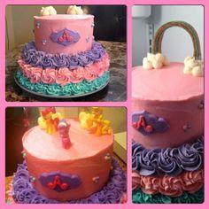 my little pony buttercream cakes   My little pony cake, butter cream frosting, marshmallow fondant plaque ...