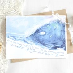 Limn House: Make Big Waves greeting card