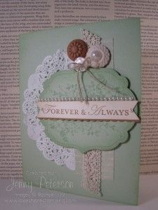 Apothecary Art/Loving Thoughts Wedding Card, paper crafting, Jenny Peterson, Stampin' Up! Demonstrator