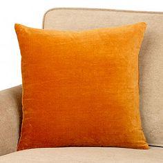 glazed ginger pillow. looks more like glazed carrot to me