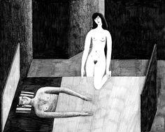 Fanny Blanc. Reverie. Ilustración basada en la historia Sommergäste de Peter Stamm. 2012