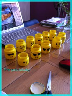 MrPatateBaby: {DIY # The Candy Containers Lego! Lego Ninjago, Diy For Teens, Diy For Kids, Deco Lego, Diy Clothes Hanger Rack, Lego Batman Party, Christmas Presents For Friends, Baby Jars, Lego Birthday Party