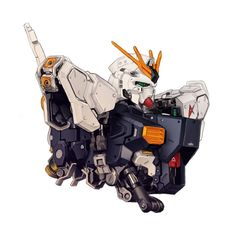 The RX-93 ν Gundam (aka Nu Gundam, Nu) is a mobile suit that appears in Mobile Suit Gundam: Char's Counterattack. It was piloted by Amuro Ray.