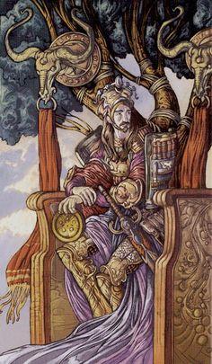 Le roi d'écus - Universal Fantasy Tarot par Paolo Martinello