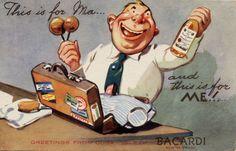 cuba in the 1940's | 1940s Cuba Bacardi Rum Advertising Postcard #2 - Havana Collectibles