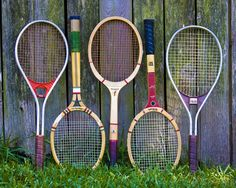 Vintage Tennis Rackets for your home