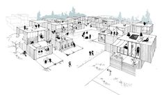 Modular Building Competition Ryterna (2nd place) - La comunidad, Spain