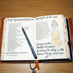 My Daily Improvements Journal and Highlights of the week in my bullet journal #bujo #bulletjournal