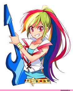 I'm awesome, take caution, watch out for me, I'm awesome as I wanna be! ~Rainbow Dash during Mlp EQ: Rainbow Rocks movie Rainbow Dash, My Little Pony Rainbow, Rainbow Rocks, Mlp Anime, Chica Anime Manga, Fanarts Anime, Twilight Sparkle, Little Poni, Anime Version