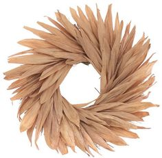 Wayfair Rose Gold Field Wreath. Rose gold metallic corn husk is elegant and simple. Can be used outdoors for garden events and weddings. You can embellish with signs or floral accents. Affiliate