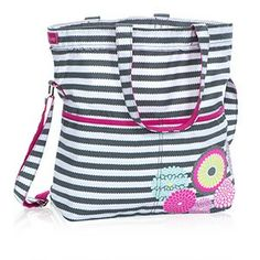I just love this new #ThirtyOne print for the Retro Metro Foldover! This everyday tote fits folders and notebooks in the main compartment, and the interior zipper pocket is sized just right to store your tablet. Two exterior pockets are perfect for your iPod, phone, camera, water bottle and more! www.mythirtyone.com/jennybush