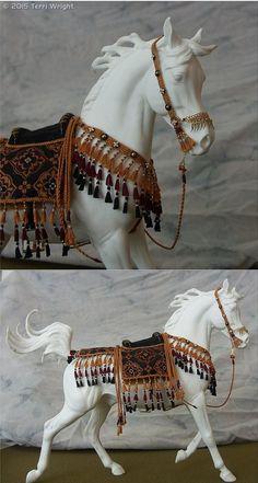 Native Inspired Arabian Costume for model horse by Terri Wright