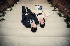 Gorgeous BAC couple posing on our Italian marble stairs also available for wedding ceremonies