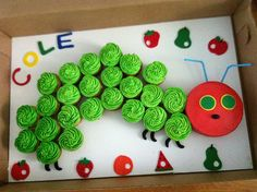 Hungry Caterpillar Cupcakes