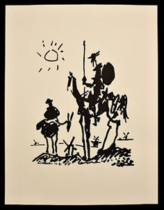 Picasso - Don Quijote, I did a mural of this in my school for my Spanish teacher :)