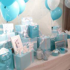 Tiffany Blue Weddings, Tiffany Wedding, Tiffany And Co, Baby Boy Themes, Erica, My Bridal Shower, Blue Balloons, Balloon Arch, Party Items