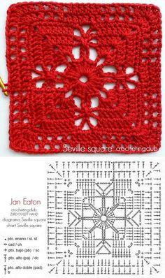 Best 12 How to Crochet a Solid Granny Square – Crochet Ideas – Page 129337820533840622 – SkillOfKing. Crochet Coaster Pattern, Crochet Motifs, Crochet Blocks, Granny Square Crochet Pattern, Crochet Diagram, Crochet Chart, Crochet Squares, Crochet Blanket Patterns, Knitting Patterns