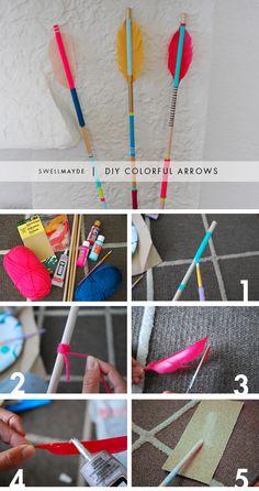 swellmayde: DIY | COLORFUL ARROWS