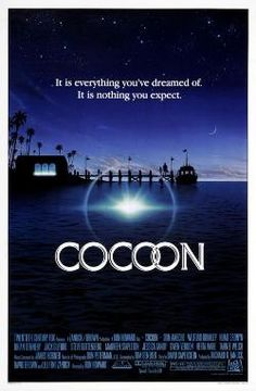 Cocoon (1985)A group of shut-ins at a rest home get a new lease on life when they're offered the gift of eternal youth by visiting aliens led by Brian Dennehy. Steve Guttenberg plays a charter boat captain who helps Dennehy and Don Ameche  marshal their fellow seniors into making the choice between perennial youth or old age. Brian Dennehy, Steve Guttenberg, Don Ameche, Hume Cronyn, Wilford Brimley, Jack Gilford, Jessica Tandy...9