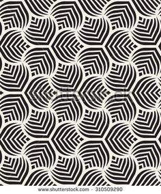 Vector seamless pattern. Monochrome graphic design. Decorative geometric leaves. Regular floral background with elegant petals. Modern stylish ornament.