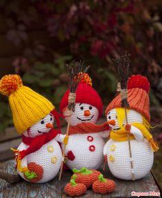 Осенние снеговики!