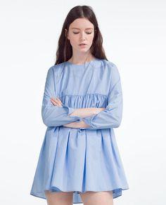 Image 4 of POPLIN JUMPSUIT DRESS from Zara