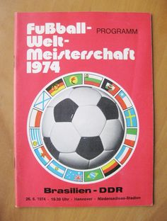 1974 #world cup #brazil v east germany (red cover) vg condition football #program,  View more on the LINK: http://www.zeppy.io/product/gb/2/311782540702/