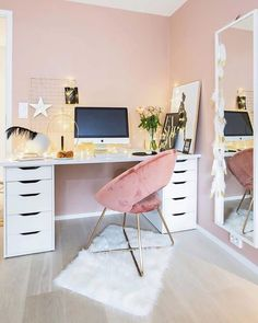 70 Beautiful & Inviting Home Office Decor Ideas that make you want to work Home Office Organization, Home Office Decor, Home Decor, Office Workspace, Office Ideas, Organization Ideas, Desk Inspiration, Modern Office Design, Inviting Home