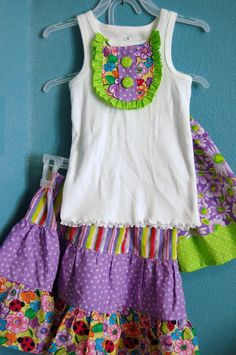 Scattered Thoughts of a Crafty Mom: Skirts and a Top