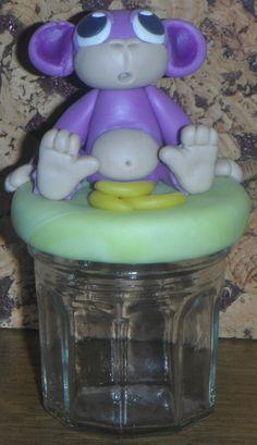 Boite à dents mon singe violet