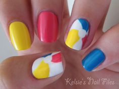 Beach Ball Nails! Pool Party or Beach Day.