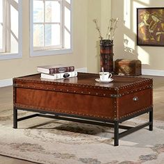Buy Milbank Old English Style Cherry Finish Coffee Table - Topvintagestyle.com ✓ FREE DELIVERY possible on eligible purchases