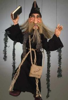 Wizard - Quality Mar - Wizard - Quality Marionettes Puppets and Collectibles --- #Theaterkompass #Theater #Theatre #Puppen #Marionette #Handpuppen #Stockpuppen #Puppenspieler #Puppenspiel