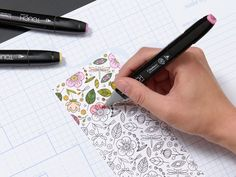 Seamless spring stamping with the Botanical Backgrounds stamp set and ShinHan™ Touch Twin™ Markers!