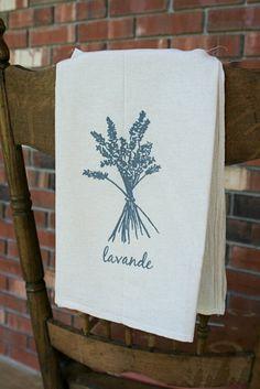 Lavande Flour Sack Towel by jhowardstudios on Etsy, $13.00