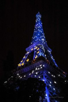 Eiffel Tower Paris France - The kids thought it looked like a huge Christmas tree. Cool we got to tour Europe while stationed there.