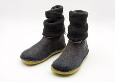 Handmade felted wool ankle boots rubber soles outdoor unisex shoes ASB11 by xlustudio on Etsy https://www.etsy.com/listing/568501986/handmade-felted-wool-ankle-boots-rubber