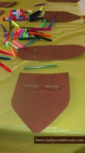 Around the World birthday party: Craft for South Africa- make an African mask.