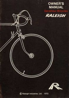 Raleigh Owners Manual - Derailleur Bicycles page 1 thumbnail